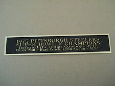 Pittsburgh Steelers Super Bowl 10 Nameplate for a Football Helmet Case 1.5 X 8