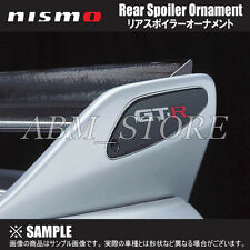 JDM NISMO GT-R R33 Emblem BUDGE Rear Spoiler Wing Carbon Ornament OEM From JAPAN