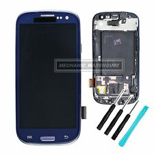 For Samsung Galaxy S3 i9300 Blue LCD Touch Screen Digitizer Display Frame + Tool