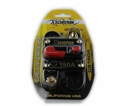 Xscorpion 150 AMP 12 Volt Circuit Breaker Fuse Holder Car Audio Stereo Reset