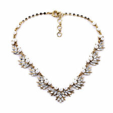 NWT Most Popular Valentines Day Gift for Her White Pearl & Crystal NECKLACE HOT