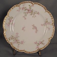 Haviland Luncheon Plate - Pink Wild Roses/Double Gold S29K