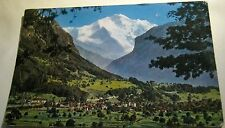 Switzerland Interlaken Gsteig un Wilderswil mit Jungfrau 2555 - posted 1955