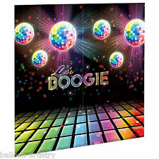 Disco Fever 70's Boogie Birthday Party Mirror Ball Dance Wall Decorating Kit