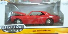 1967 Chevy Camaro Coupe Die-cast Car 1:24 Jada Big Time Muscle 8 inch Red