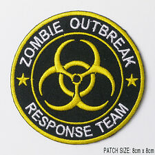 """BIG"" ZOMBIE APOCALYPSE ""OUTBREAK RESPONSE TEAM"" Iron-On Embroidered Team Patch!"