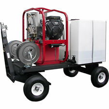 Hot2Go Tow-N-Stow Professional 4000 PSI (Gas - Hot Water) Pressure Washer Car...