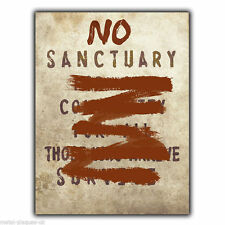 NO Sanctuary for all Community TERMINUS Walking Dead METAL SIGN WALL PLAQUE