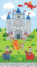 "Little Knights Quest Castle   Northcott Quilt Fabric Panel 24"" x 44"""