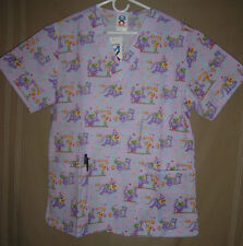 Nurses uniforms  top only/Size M funny caracters good for pediatrics office
