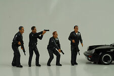 Cop Officer Police Polizei 4 Figurines Figur figures Set 1:18 American Diorama