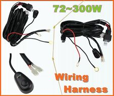 LED Day Running Fog Light DRL Relay Harness On/Off Switch kit