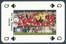 PLAYING CARD-ARSENAL-DOUBLE WINNERS 1997/98-#QC-FA CUP WINNERS