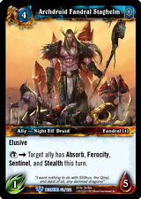 WOW WARCRAFT TCG BETRAYAL OF THE GUARDIAN : ARCHDRUID FANDRAL STAGHELM X 4