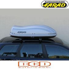FARAD - BOX BAULE PORTAPACCHI F3 N8 400LT GRIGIO SATINATO - PORTABAGAGLI AUTO
