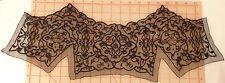 "2 embroidered beaded black mesh applique panels detailed design 23"" x 8.5"""