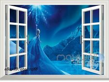 Disney Frozen Elsa Castle 3D Window Wall Decals Removable Stickers Kids Decor