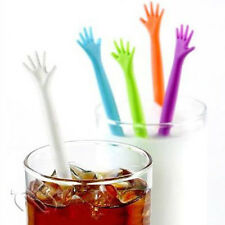 5pc HELP ME Drink Stirrers Bar Pub/Party/Kitchen Cocktail Swizzle Stick Colorful