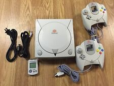 Sega Dreamcast console Bundle with 2 controllers, new clock battery 4 free games