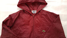 Lacoste Izod vintage windbreaker jacket mens sizeXL nylon maroon alligator