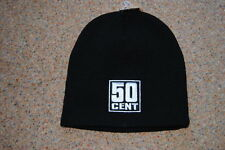 50 CENT EMBROIDERED LOGO BEANIE SKI HAT CAP BNWT RAP GET RICH CURTIS MASSACRE