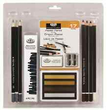 17 Piece SEPIA Pastel Pencil Crayon Drawing Sketching Kit Set Royal Langnickel
