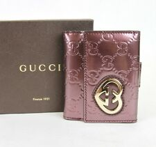 New Authentic Gucci LOVELY Guccissima Leather Heart French Wallet,299924 6029