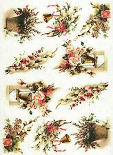 Papel De Arroz Para Decoupage, álbum de recortes De Chapa, Artesanal De Papel Vintage Pascua Decoración