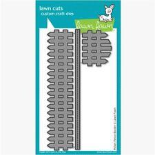 Lawn Fawn Lawn Cuts Cutting Die Set ~ PICKET FENCE BORDER ~ Home, Warmth  ~LF853