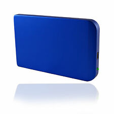 "NEW GENERIC 2.5"" SATA HDD HARD DRIVE USB ENCLOSURE CADDY CASE STORAGE SLIM BLUE"