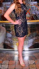 B. Darlin Illusion Lace Sheath Dress Party Sequin Homecoming Dress Size 3 - Excl