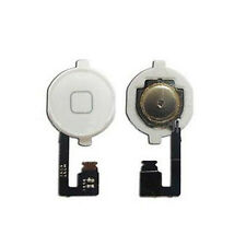 Home Menu Button Flex Cable  Key Cap Assembly for Apple iPhone 4S White New