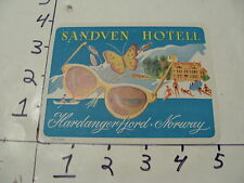 Vintage Travel Trunk Luggage Label Decal--SANDVEN HOTELL NORWAY