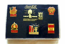 "1986 LIMITED ED. ""COCA-COLA & THE STATUE OF LIBERTY - ELLIS ISLAND"" 5 PIN SET"