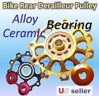 Alloy / Ceramic Bearing 11T / 13T Bike Jockey Wheel Rear Derailleur Pulley