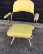 Vintage Folding  Clarin Upholstered Chair Bright Yellow  1960's With Arms