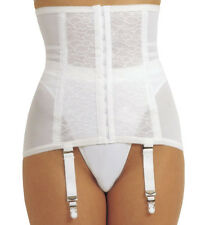 Rago 21 Shapette Waist Cincher Open Bottom Girdle Firm Control Corset 4 Garters