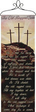 Old Rugged Cross Inspirational Tapestry Wall Hanging Panel