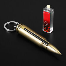 Outdoor Fire Starter Stone Bullet Camping Emergency Survival Key Chain