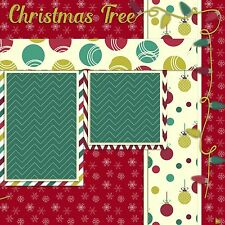 Premade-Double Page-Scrapbook Layouts- Christmas Tree - 575