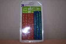 3 Piece Lettering Guide Mighty Measures New in Pack Raised Ribs AGes 12+ 3 Guide