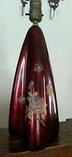 Beautiful Maruni Royal Porce Ware rose and lacquer lamp pigeon blood