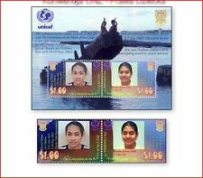 TUV0203 UN Convention on the Rights of the Child 2 stamps and block