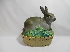 ANCIENNE TERRINE OEUFRIER LAPIN PORCELAINE CERAMIQUE ANIMALIERE ZOOMORPHE