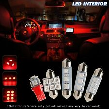 6 Pieces LED Lights Interior Package Kit for 1994-2004 Ford Mustang COOL red