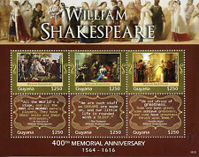 Guyana 2016 MNH William Shakespeare 400th Memorial 6v M/S The Tempest Stamps