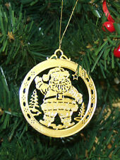Personalized Santa Claus High Polished Brass Christmas Ornament Custom Gift