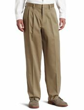 NEW Mens 44x30 Dk Khaki D4 Pleated Front Relaxed Khaki by Dockers  #j