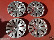 "GENUINE CITROEN BERLINGO MK3 SET OF 4 15"" WHEEL TRIMS"