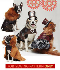 SEWING PATTERN! MAKE SMALL~LARGE DOG CLOTHES~COSTUMES!  STEAMPUNK COAT~HAT!